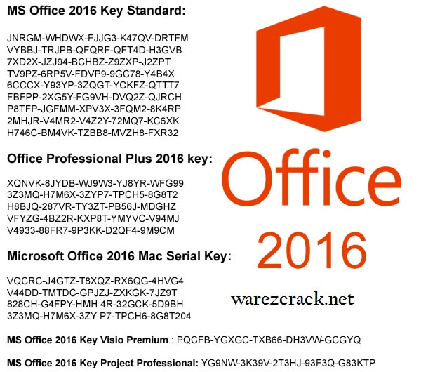 activation key for office 2016 pro plus