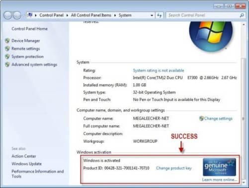 Windows 7 Activation Key 2016 Free Download