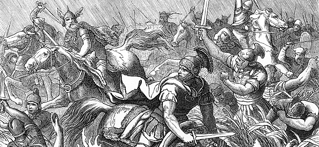 The Death of Emperor Valens and the Battle of Adrianople During the Gothic War, August 9, 378 AD.