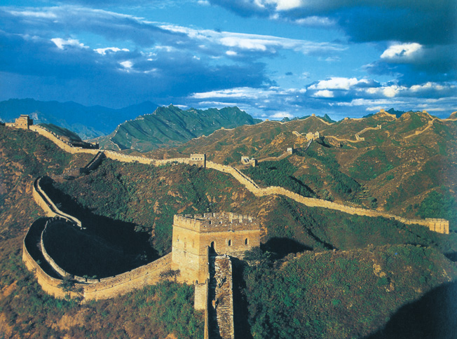 The Great Wall of China stretches 3,000 miles from the Pacific coast to the present-day Gansu province. The massive wall was to serve as Qin Shih Huang-ti's northernmost fortification.