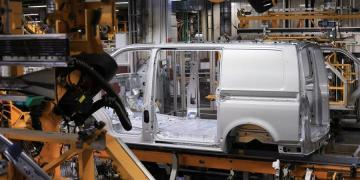 A Volkswagen T6 Transporter van being assembled in Hanover, Germany. Apple has signed a deal under which Volkswagen is to produce self-driving versions of the van to serve as shuttles for the tech giant's employees | Photo Credit Kirsztian Bocsi/Bloomberg
