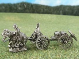 15mm ACW Artillery: ACW125 Caisson Set with Running Horses & Crew