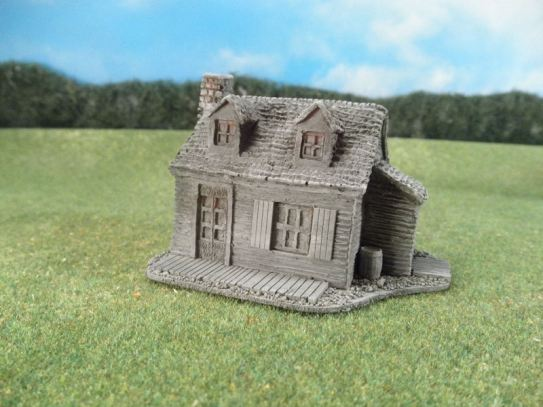 15mm ACW Buildings: TRF301 Rural Farmhouse, Classic American Style