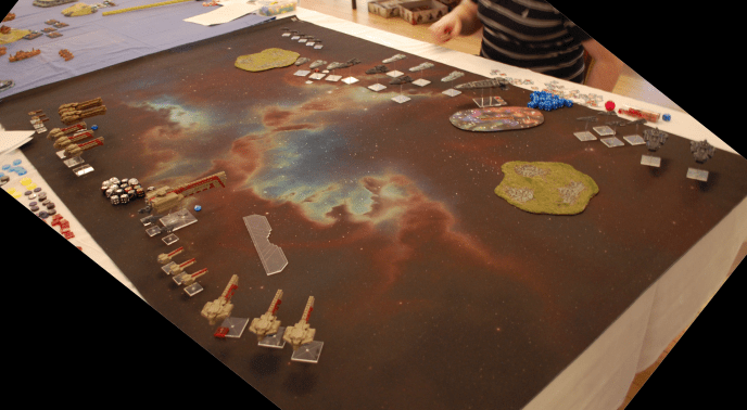 News from the Front #2 – Firestorm Armada, 1200pts Dindrenzi versus Terrans (again)