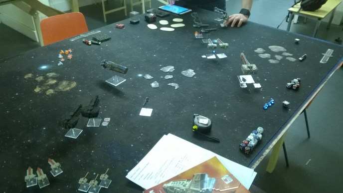 News from the Front #4 – Firestorm Armada, 1000pts Dindrenzi versus Sorylians