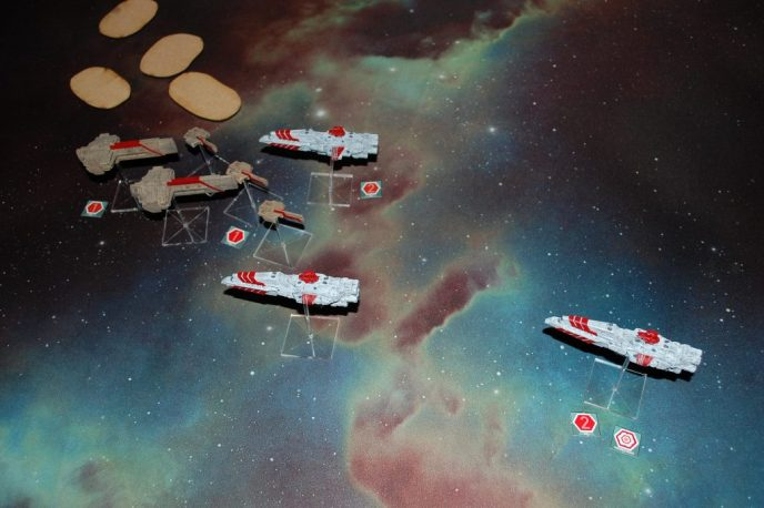News from the Front #6 – 500(ish)pts Dindrenzi versus Rense System Navy