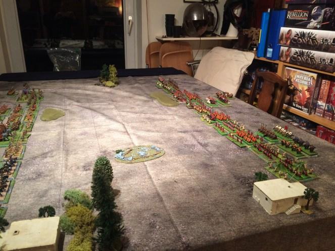 The Romans arrayed for battle.