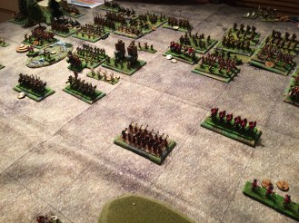 The Romans have cleared away the foolhardy Sassanid cavalry who had smashed through the centre to face the reserve unit of archers and cavalry.