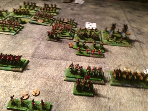 The weakened Roman Right Flank.