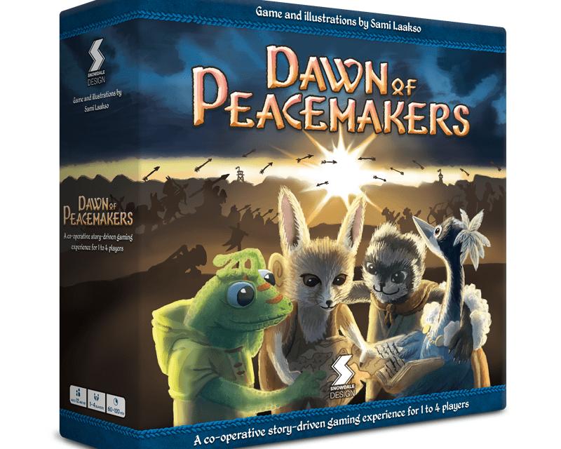 Dawn of Peacemakers juego de mesa Kickstarter