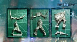 El nuevo sistema de ensamblaje de Corvus Belli logra poses altamente dinámicas con pocas piezas.