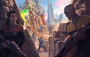 A pesar de que las batallas no son el centro de Star Trek Adventures RPG, cuenta con un robusto reglamento para el combate