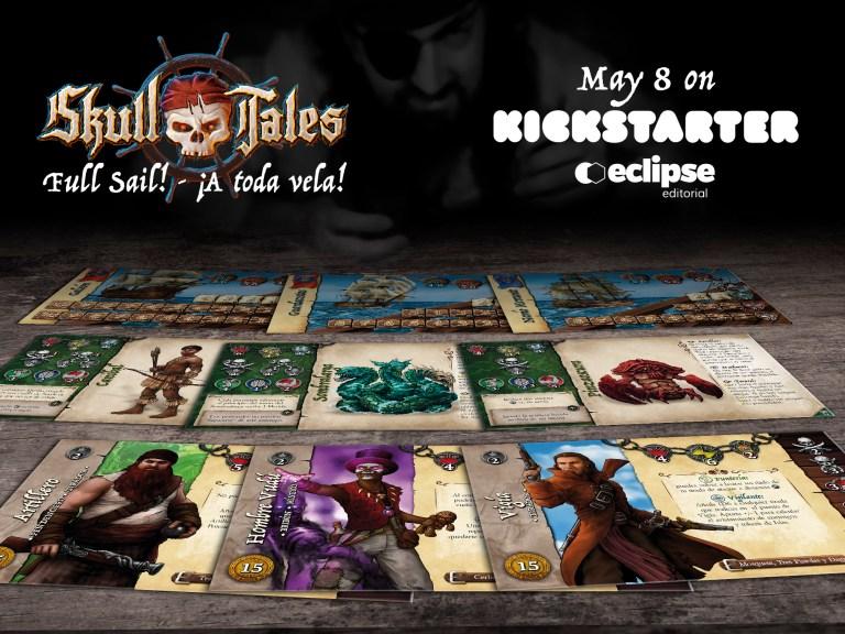 Skull Tales ¡A Toda Vela! Varios Tarjetas de personajes, monstruos y barcos.