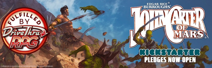 Banner del Kickstarter de John Carter of Mars Role Playing Games