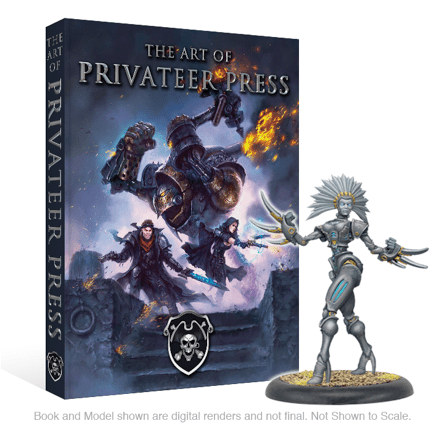 Portada de The Art of Privateer Press, Próximamente en Kickstarter