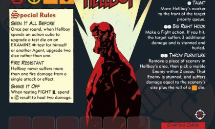 DISEÑANDO HELLBOY: THE BOARD GAME, Cartas de Agente