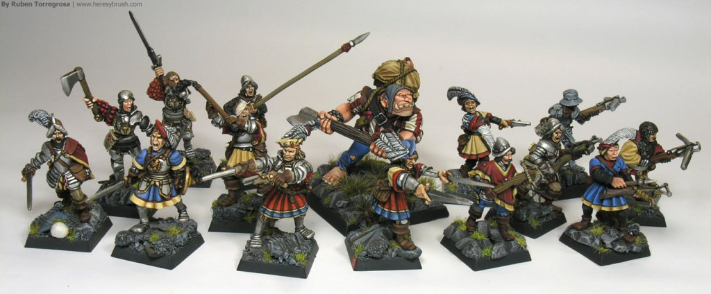 Banda Mercenarios de Mariemburg para Mordheim por Ruben Torregrosa