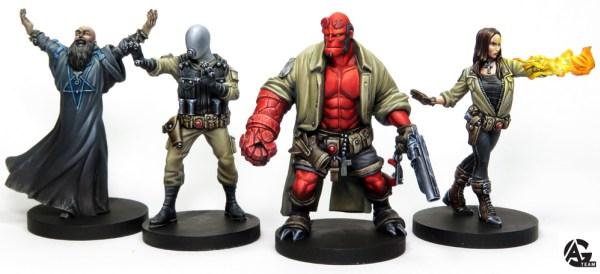 Hellboy juego de miniaturas presente en Mantic Night este Gen Con 2018