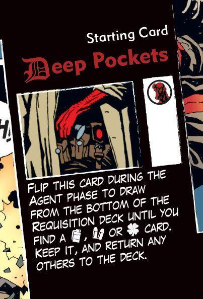 Hellboy: The board Game Carta de Agente Cartas de Inicio Bolsillos Profundos