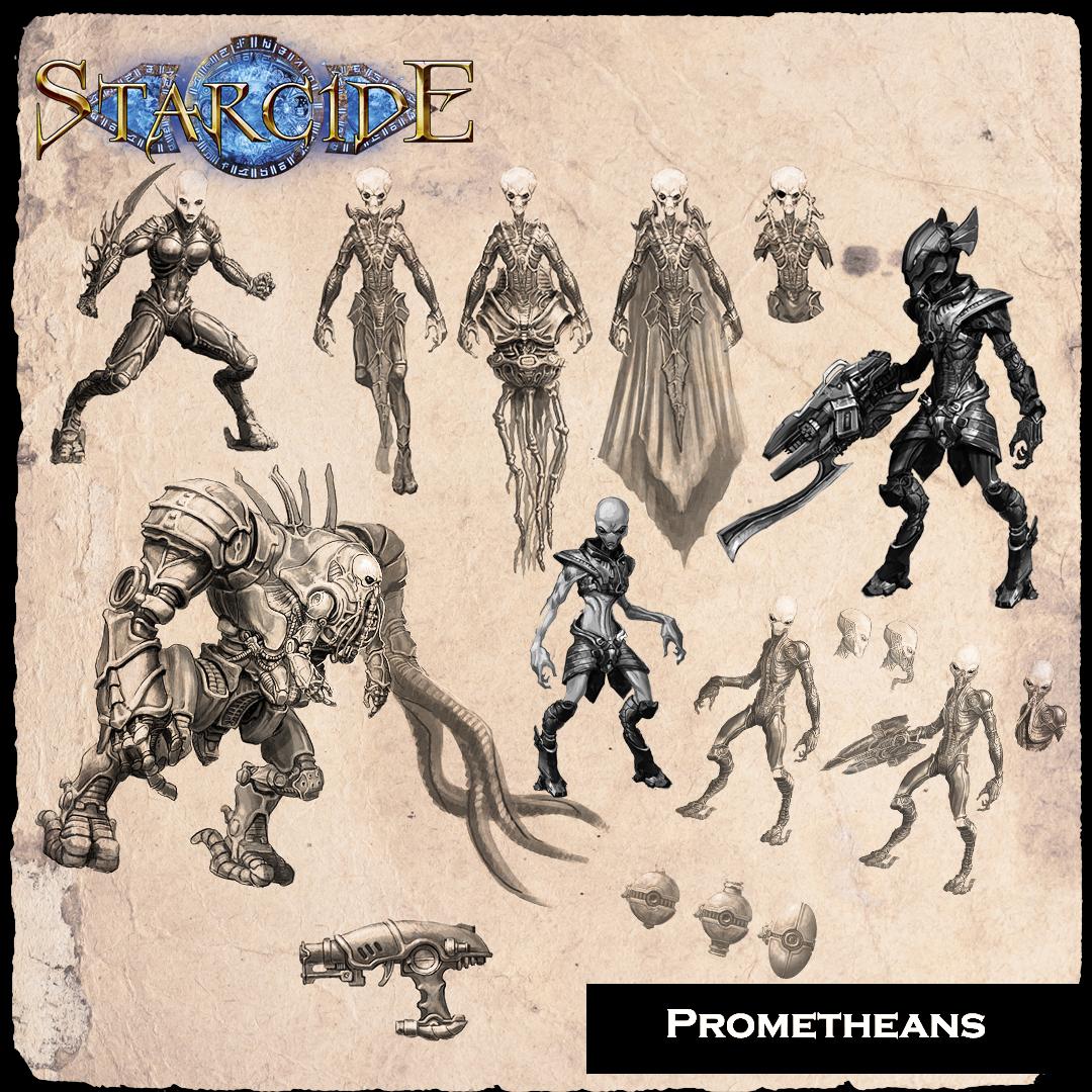 Starcide, Prometheans, los humanoides psiónicos