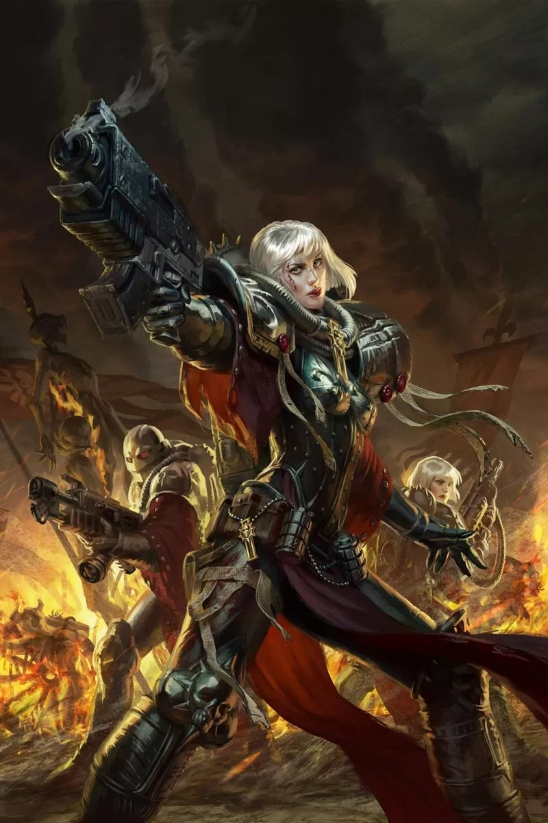 Battle Sisters of the Adepta Sororitas, the warriors of the Ecclesiarchy.