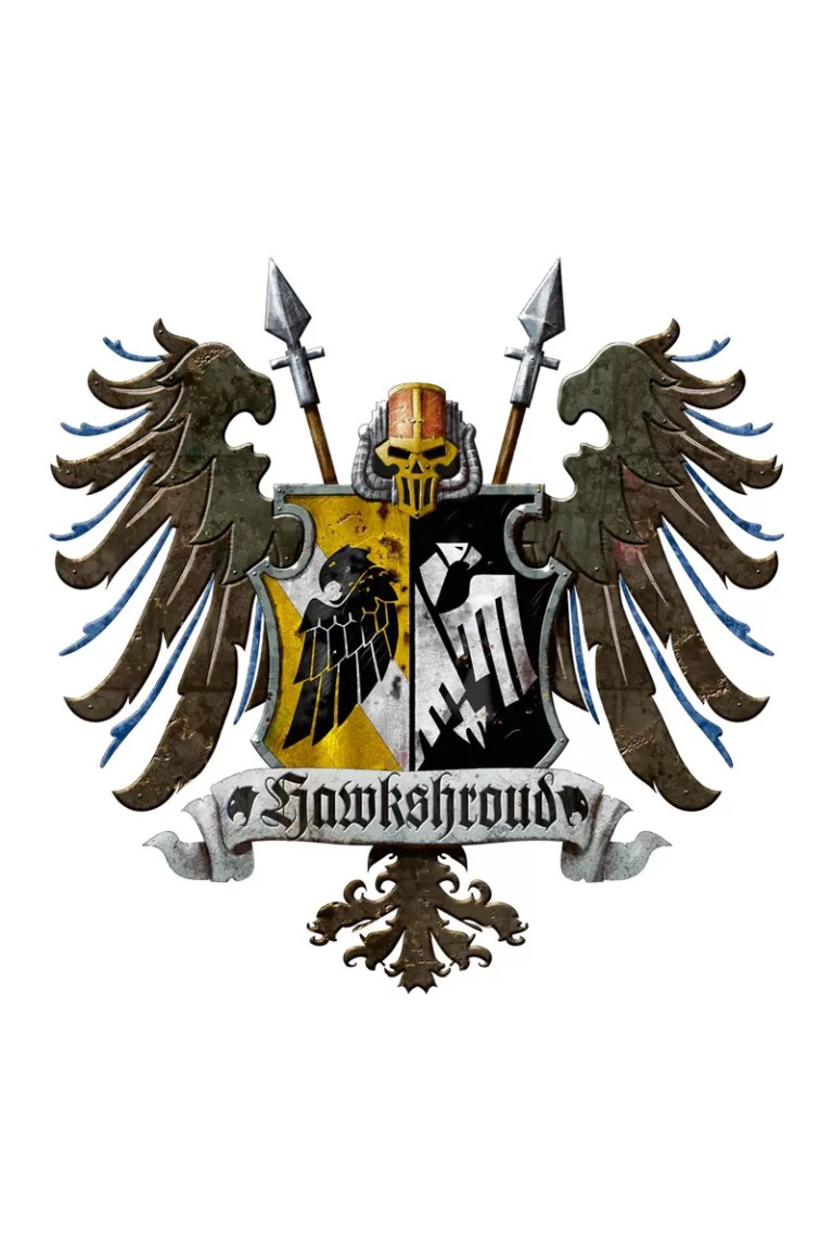This is the heraldic crest displayed by all Knights who are a member of the venerable House Hawkshroud. Released – 2014