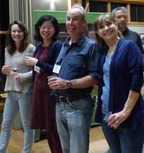 Dr Jeff Peterson - center - with UW rheumatology fellows Jenna Thomason and Judy Juo