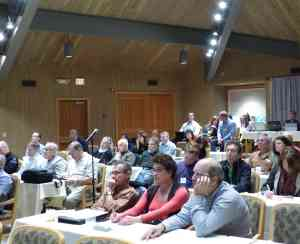 Meeting attendees learn from a variety of speakers