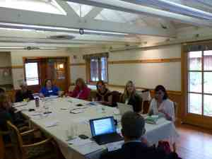Practice Management seminar participants learning about promoting health literacy