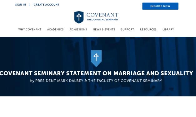 Covenant Theological Seminary's failure…