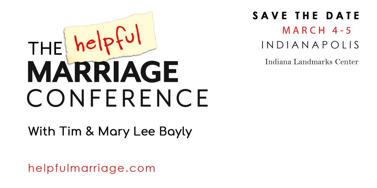 The Helpful Marriage Conference: Save the Date!