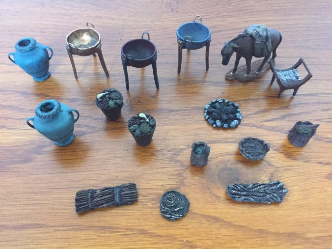 Bronze Age Painted Accessory Pieces