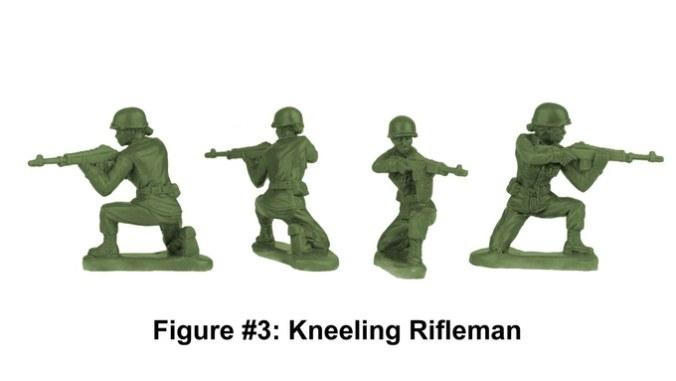 Army Women Kneeling Riflewoman