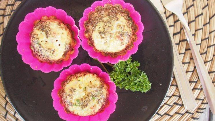 Muffinki jajeczne z cukinią