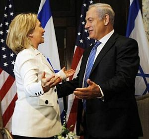 Image result for Picture Bibi and Hillary