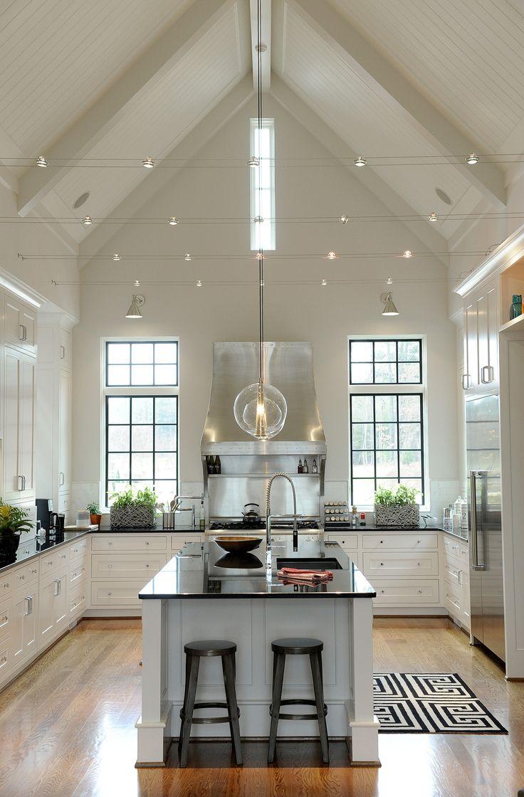 elegant pendant light sloped ceiling