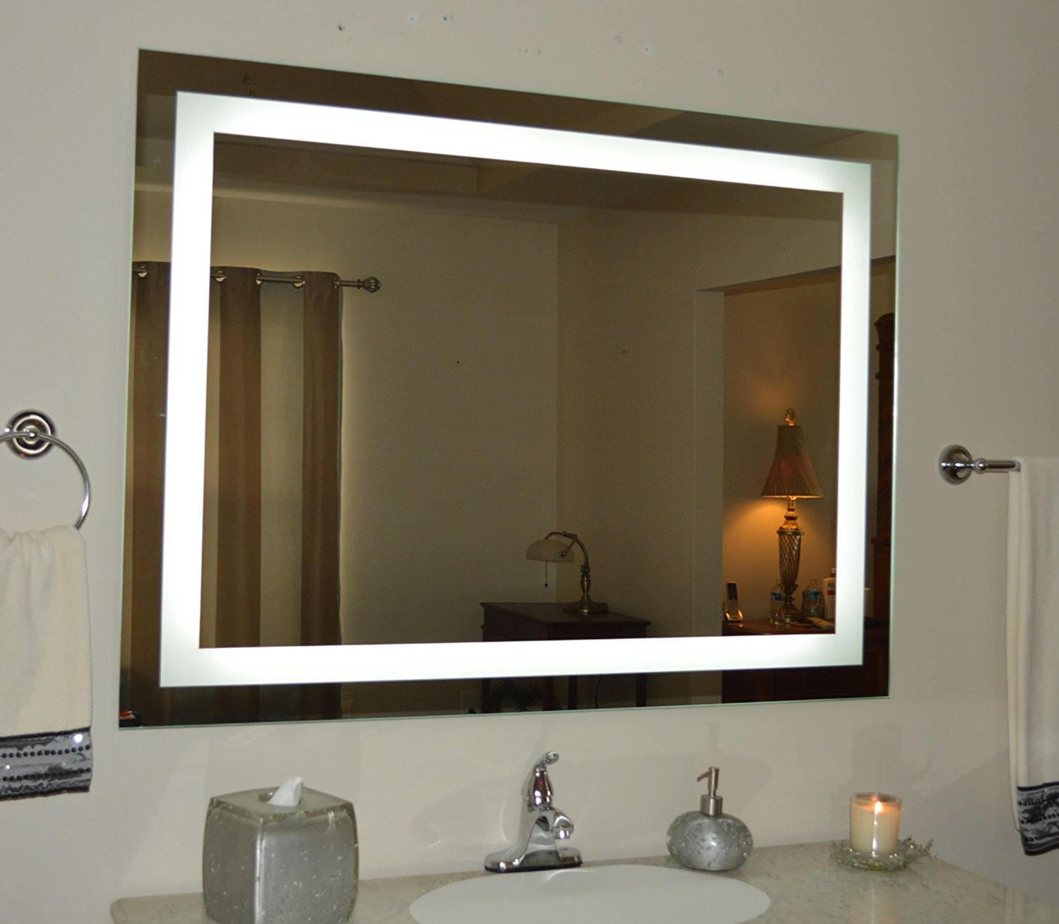 see the difference with a wall mounted light up mirror | warisan