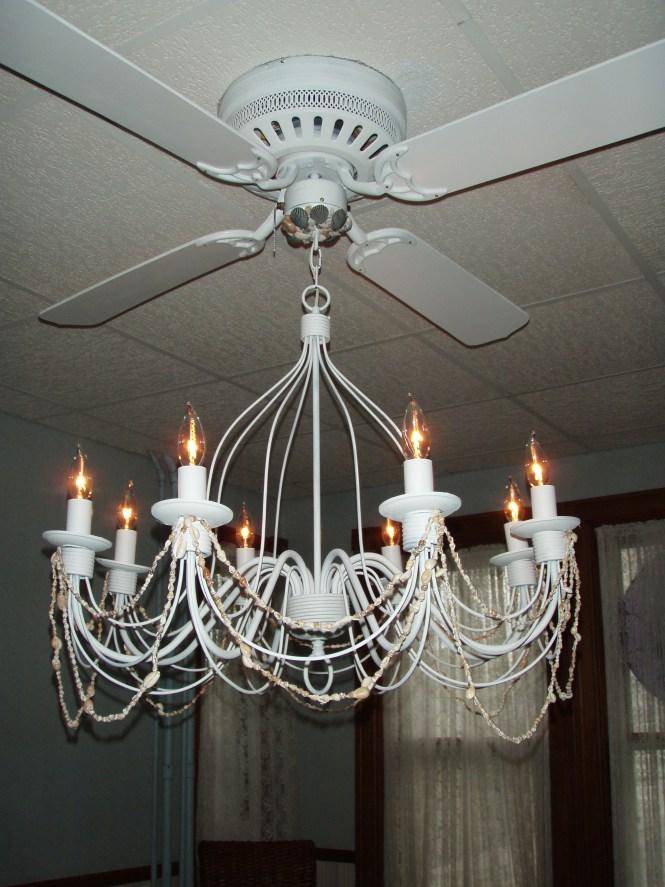 Ceiling Fan Chandelier Combo Photo 4