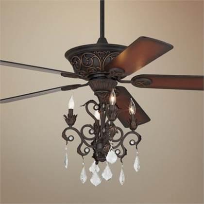 Ceiling Fan Chandelier Light Photo 3
