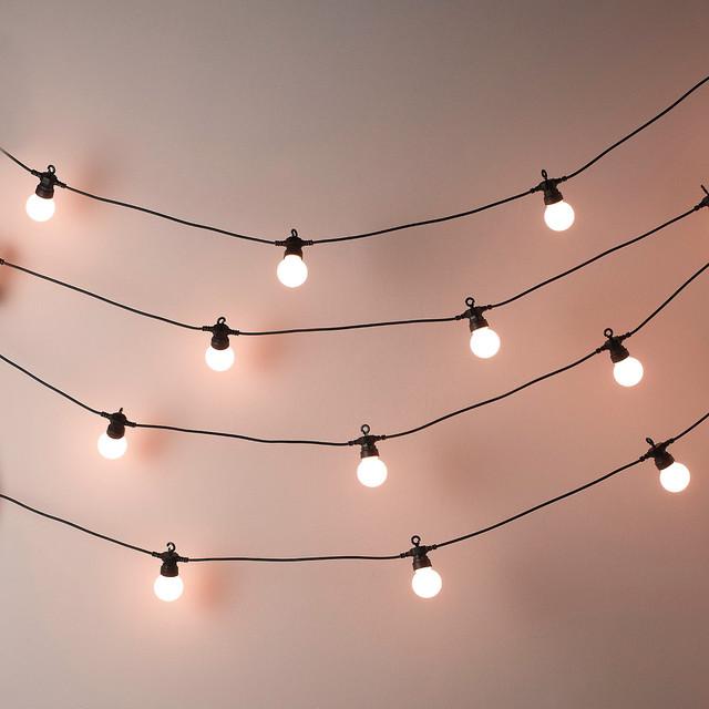 Bedroom Fairy Lights Canopy Wall Christmas Indoor Ideas