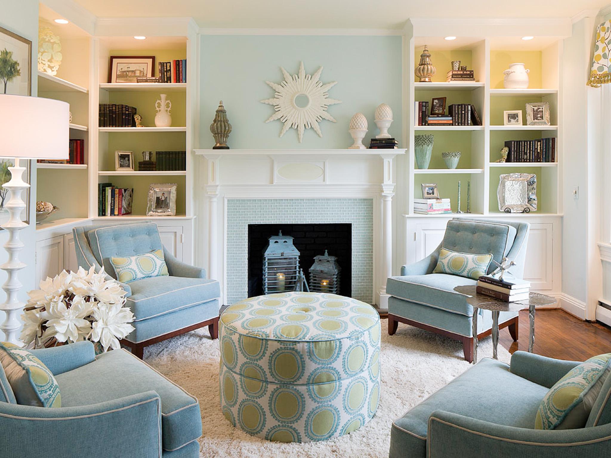 Light Blue Walls In Living Room