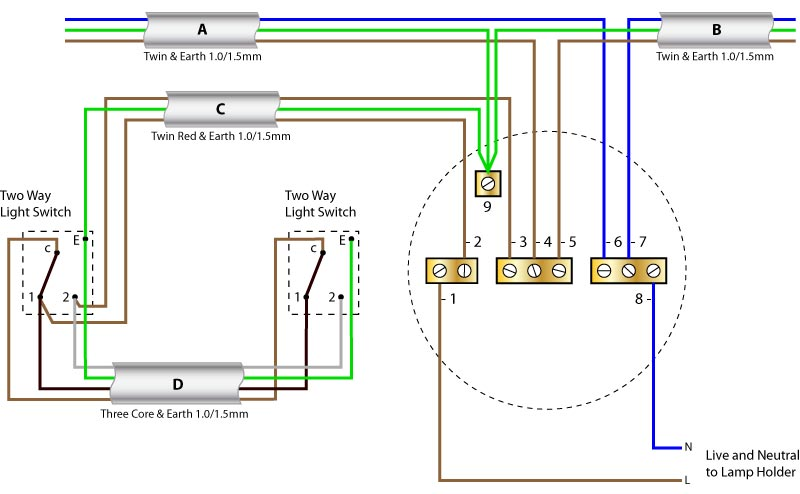 1 Way Switch Diagram - Facbooik.com: 4 gang 2 way switch wiring diagram at negarled.com