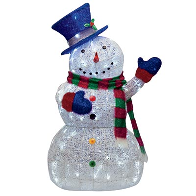 Recycled Xmas K Cup Snowmen Ornaments