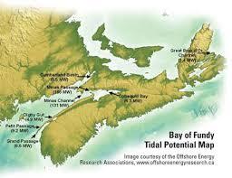 Tidal map