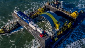 Cape Sharp turbine on deployment barge Scotia Tide