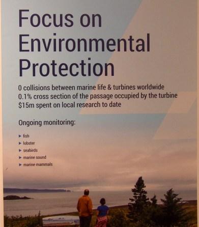 Poster lists tidal benefits