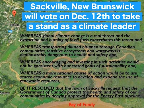 Bill Evans's draft motion. ---Sackville, No Energy East