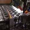 WarBlock production run 2 back tab milling. Receiver level same plane AR15 high rail steel gas blocks with bayonet lug and QD sling swivel socket.