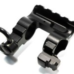 WarBlock AR15 receiver level same plane railed gas block with bayonet lug and QD sling swivel socket and rotation limiter