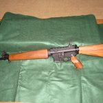 WarBlock 75 LiteHunter on wood furniture AR customer-MK